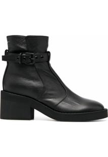 Mm6 Maison Margiela Ankle Boot Com Salto 70Mm - Preto