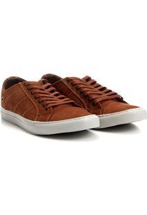 Sapatênis Couro Shoestock Nobuck Color Masculino - Masculino-Caramelo