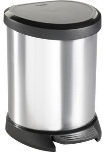Lixeira 5L Metálica Curver Silver-Keter - Prata