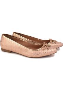 Sapatilha Trivalle Shoes Com Laço Metalizada