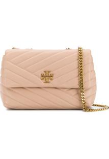Tory Burch Quilted Crossbody Bag - Marrom