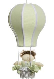Lustre Balão Cintura Quarto Bebê Infantil Menino Potinho De Mel Verde - Kanui