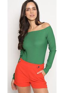 Body Ciganinha & Canelado - Verde - Colccicolcci