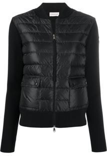 Moncler Zip-Up Padded Jacket - Preto