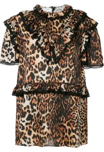 We11Done Vestido Animal Print - Marrom