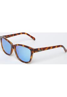 Óculos De Sol Quadrado - Marrom & Azul - Colccicolcci