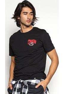 Camiseta Cavalera T Shirt Easy Rider Masculina - Masculino-Preto