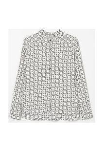 Camisa Manga Longa Estampada | Cortelle | Branco | G