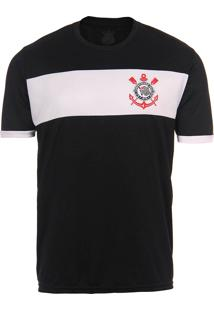 Camiseta Básica Masculina Corinthians - Preto
