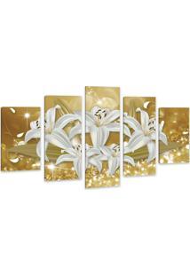 Quadro Oppen House 75X125Cm Canvas Flores De Midas Decorativo Interiores