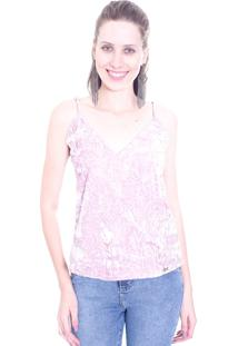 Blusa Gup'S Jeans Regata Veludo Rosa