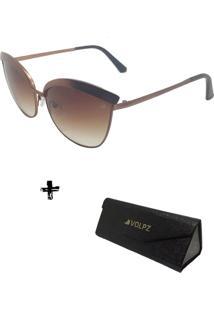 Oculos De Sol Feminino Volpz Miami 2.0 Com Case Dobrável