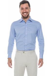 Camisa Raphy Clássica Quadriculada Azul - Masculino