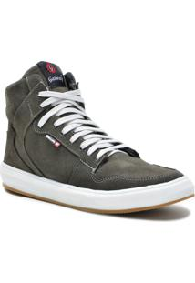 Tênis Sneaker Galway Cano Alto Masculino - Masculino-Cinza