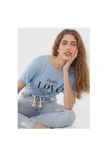 Camiseta Colcci Self Love Azul