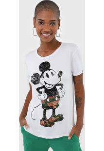 Blusa Cativa Disney Mickey Branca