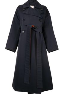 Roksanda Colour Block Trench Coat - Azul