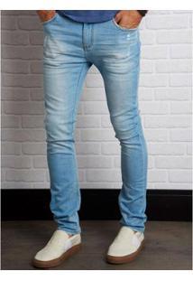 Calça Jeans John John Slim Falkland 3D Masculina - Masculino-Azul