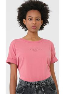 Camiseta Colcci Compartilhe Propã³Sito Rosa - Rosa - Feminino - Algodã£O - Dafiti