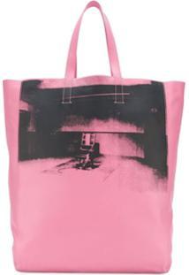 Calvin Klein 205W39Nyc Bolsa Tote De Couro - Rosa