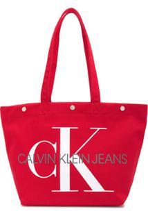 Calvin Klein Jeans Bolsa Tote 'Utility' - Vermelho