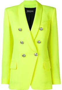 Balmain Double Breasted Jacket - Amarelo