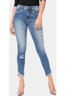 7911f08905 ... Calça Jeans Skinny Cropped Azul Lunender