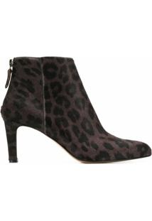Antonio Barbato Bota Animal Print - Marrom