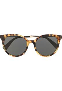 Valentino Eyewear Óculos De Sol Gatinho Com Efeito Tartaruga - Marrom