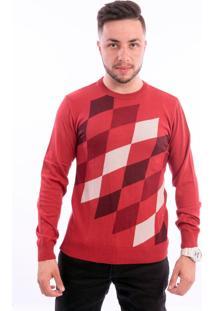 Blusa G'Dom Losangos Vermelha (Vermelho, G)