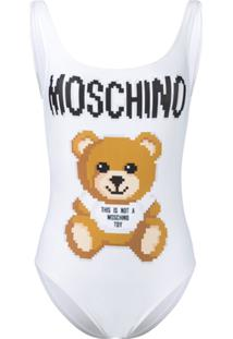 Moschino Maiô Teddy Bear - Branco