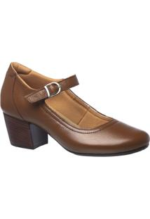 Scarpin Couro Doctor Shoes 287 Feminino - Feminino-Marrom