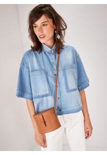 Camisa Jeans Manga Curta Reserva Blue Jeans