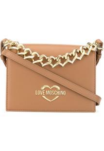 Love Moschino Bolsa Transversal Com Coração - Neutro