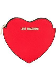Love Moschino Carteira Com Estampa De Coração - Vermelho