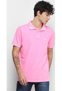 Camisa Polo Derek Ho Tinturada Piquet Básica Masculina - Masculino-Pink