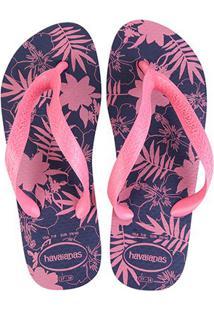 Sandália Havaianas Color Floral Feminina - Feminino-Marinho+Rosa