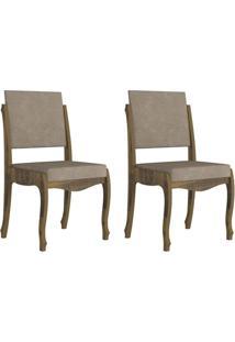 Jogo De 2 Cadeiras Ônix Ii Amadeirado Com Pena Caramelo - Rv Móveis