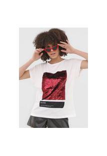 Camiseta Sommer Paetês Off-White