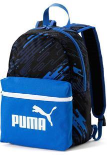 Mochila Puma Phase Small Preta E Azul