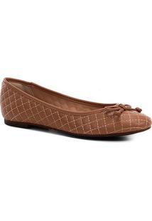 Sapatilha Shoestock Matelassê Feminina - Feminino-Nude