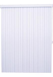 Persiana Vertical Pvc 89Mm Isadora Design 2,40Mx2,20M Branco