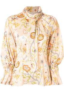 Peter Pilotto Flower Canopy Print Blouse - Rosa