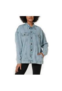 Jaqueta Jeans Feminina Hering H887 Azul