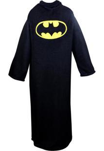 Cobertor Com Mangas Batman Preto E Amarelo Zona Criativa