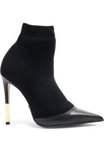 Balmain Ankle Boot De Tricot 'Aurore' - Preto