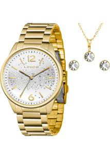 Kit Relógio Lince Feminino Com Colar Lrgh106Lkw65S2Kx