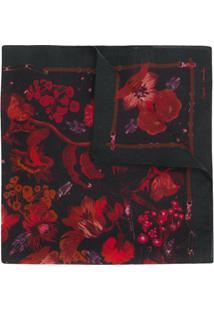 Paul Smith Echarpe Com Estampa Floral - Vermelho