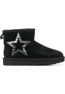 Ugg Australia Sequin Star Embroidered Ankle Boots - Preto