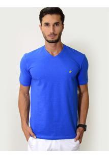 Camiseta V Azul Royal